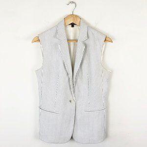 Express Striped Sleeveless Blazer